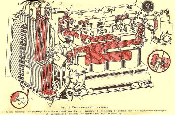 охлаждения МТЗ 80Мтз 82