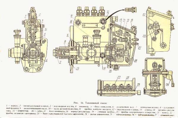 Насос ручной подкачки 1825473С92 для тратктора МТЗ-2522.